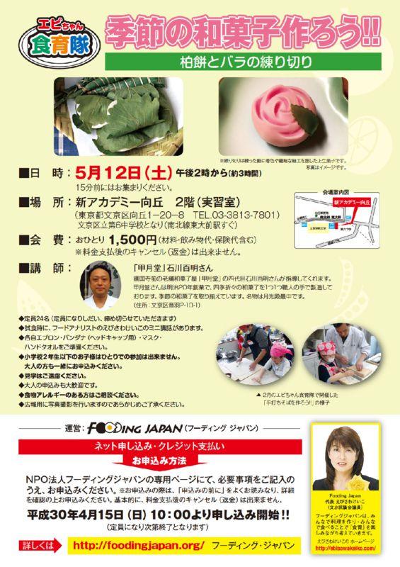 和菓子作り180512