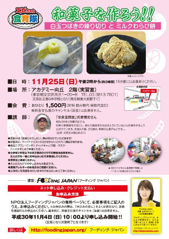 和菓子作り181125